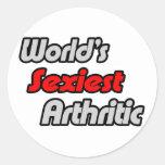 El Arthritic más atractivo del mundo Etiqueta Redonda