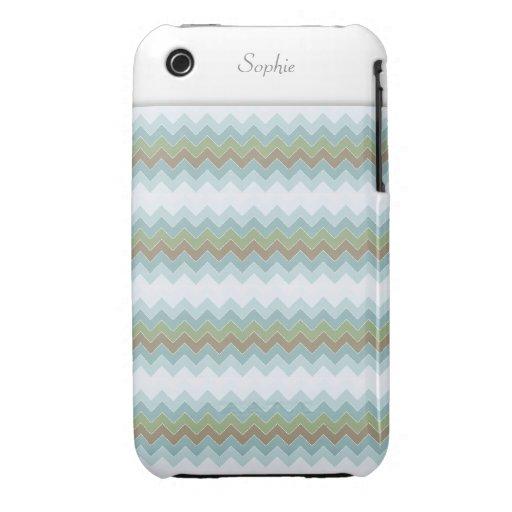 El ártico colorea el iPhone 3G/3GS del zigzag de Case-Mate iPhone 3 Cobertura