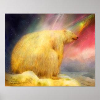 El ártico se pregunta el mural del arte póster