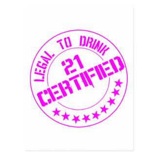 El artículo de 21 cumpleaños ahora certificó el ro postales