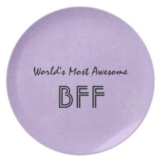 El artículo púrpura más impresionante BF01 del Plato Para Fiesta