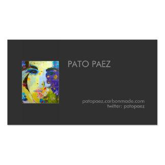 El artista añade su tarjeta de visita de la foto