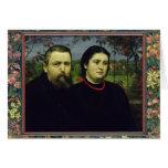 El artista con su esposa Bonicella, 1887 Felicitaciones