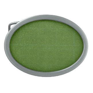 El ARTISTA creó el fondo verde oscuro Hebillas De Cinturón Ovales