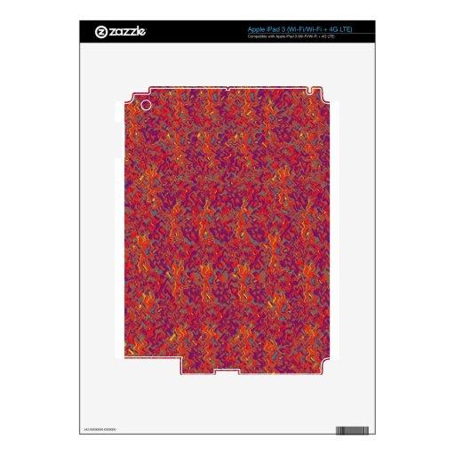 El artista creó la plataforma floral marrón de Nor iPad 3 Skin