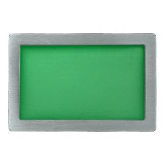El artista creó tema del verde del fondo de la hebillas cinturon rectangulares