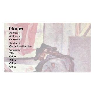 El artista de Chardin Jean-Baptiste Siméon (el mej Plantilla De Tarjeta De Negocio