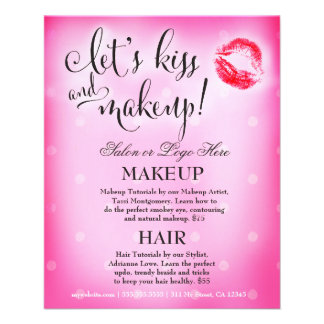 El artista de maquillaje 311 deja beso y maquillaj tarjeta publicitaria