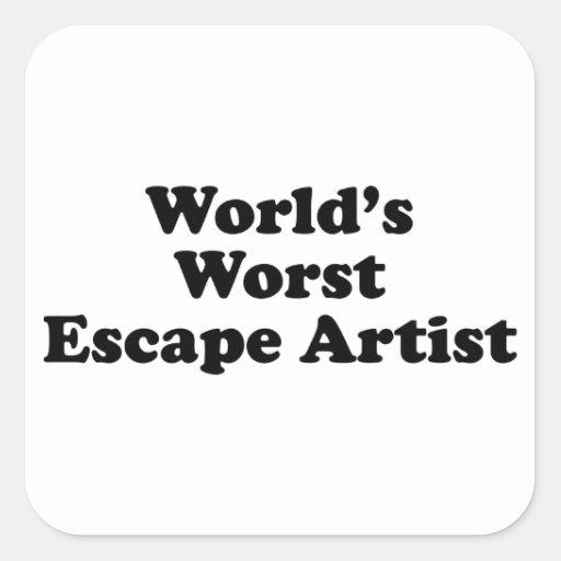 El artista del escape peor del mundo pegatina cuadrada