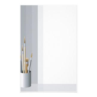 El artista fino cepilla los efectos de escritorio personalized stationery