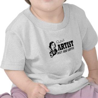 El artista inmediato apenas añade el café camiseta