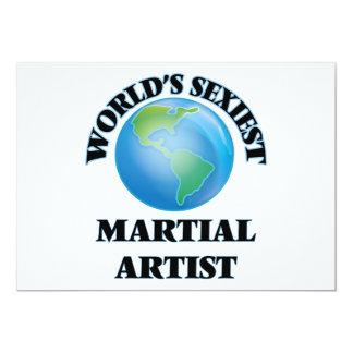 El artista marcial más atractivo del mundo invitación 12,7 x 17,8 cm
