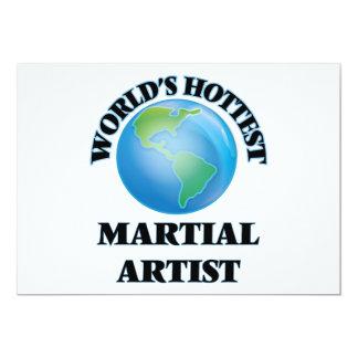 El artista marcial más caliente del mundo invitación 12,7 x 17,8 cm