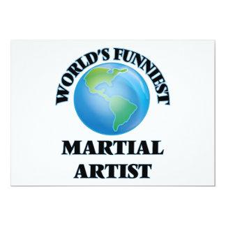 El artista marcial más divertido del mundo invitación 12,7 x 17,8 cm