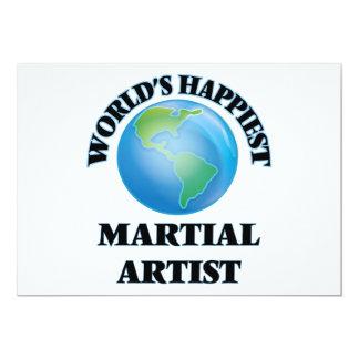 El artista marcial más feliz del mundo invitación 12,7 x 17,8 cm