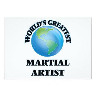 El artista marcial más grande del mundo invitación 12,7 x 17,8 cm