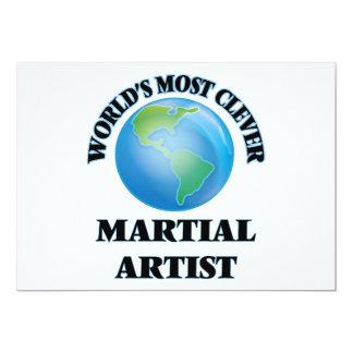 El artista marcial más listo del mundo invitación 12,7 x 17,8 cm