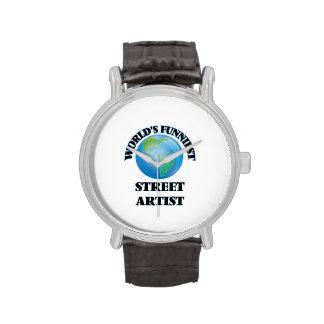 El artista más divertido de la calle del mundo reloj de mano