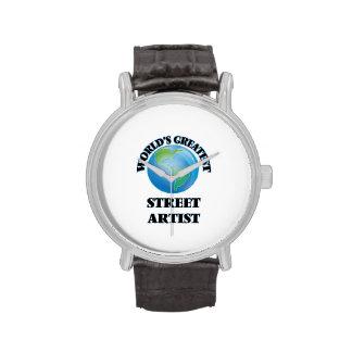 El artista más grande de la calle del mundo reloj