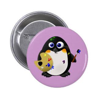 El artista -- Pingüino lindo del pintor