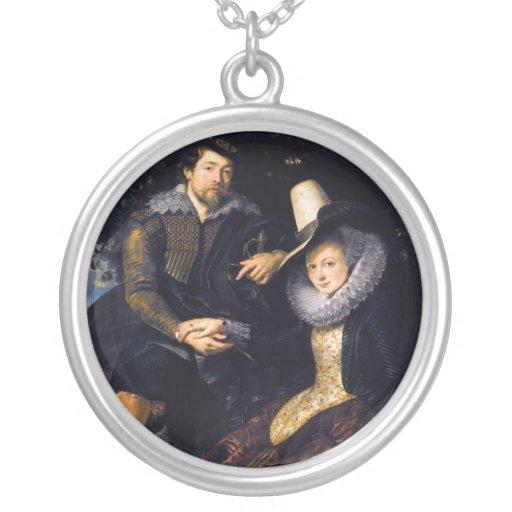 El artista y su primera esposa, Isabel Barnacla Colgantes