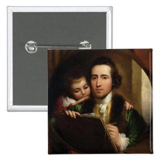 El artista y su Raphael del hijo, c.1773 (el aceit Pin Cuadrado