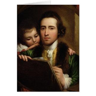 El artista y su Raphael del hijo, c.1773 (el aceit Tarjeta De Felicitación