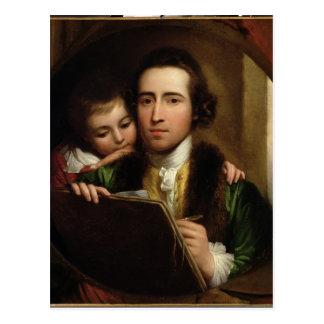 El artista y su Raphael del hijo, c.1773 (el aceit Tarjetas Postales