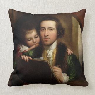 El artista y su Raphael del hijo, c.1773 (el Cojín