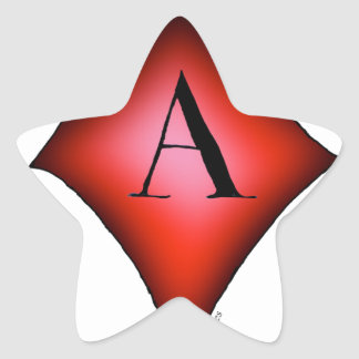 El as de diamantes de Tony Fernandes Pegatina En Forma De Estrella