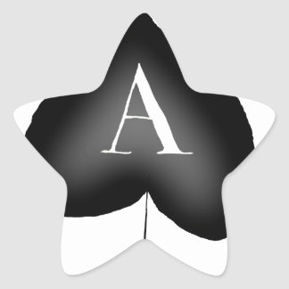 El as de espadas de Tony Fernandes Pegatina En Forma De Estrella