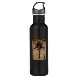 el as de la botella de agua de las espadas