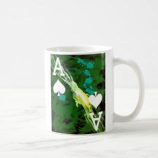 El as del arte del póker de la taza de café del di