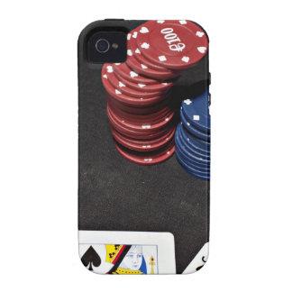 El as del póker apostó la buena mano iPhone 4 carcasa