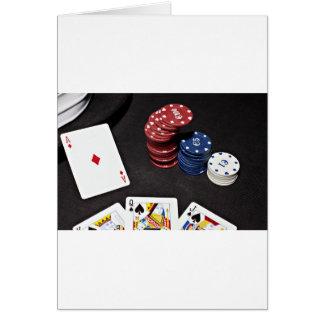 El as del póker apostó la buena mano tarjeta de felicitación