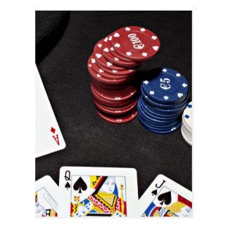 El as del póker apostó la buena mano postal