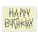El asalto del feliz cumpleaños tarjeta