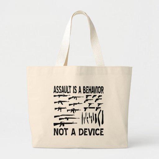 El asalto es un comportamiento no un dispositivo bolsas lienzo