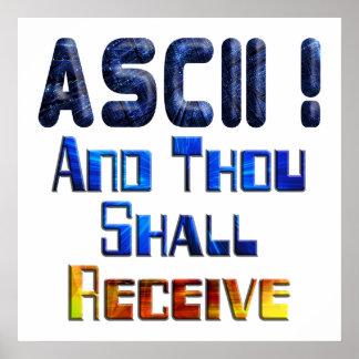 El ASCII y mil recibirán Póster