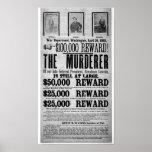 El asesinato de Lincoln quiso el poster