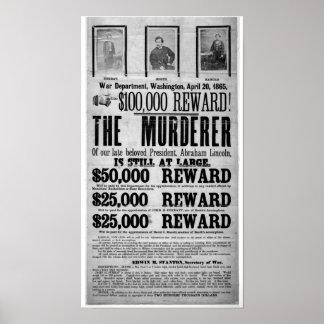 El asesinato de Lincoln quiso el poster Póster