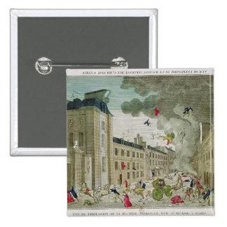 El asesinato frustrado de Napoleon Bonaparte Pin Cuadrada 5 Cm