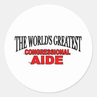 El asesor del Congreso más grande del mundo Pegatinas Redondas
