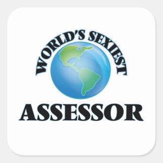 El asesor más atractivo del mundo calcomanías cuadradas personalizadas