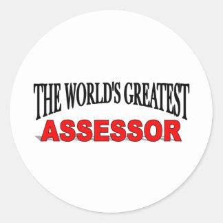 El asesor más grande del mundo etiqueta redonda