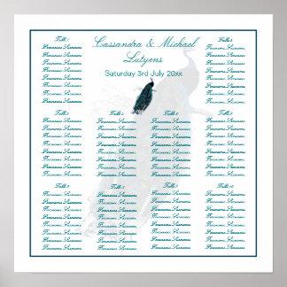 El asiento de la tabla de la colección del pavo póster