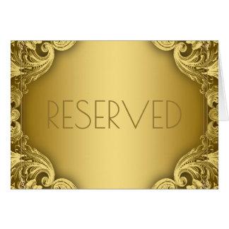 El asiento reservado carda el oro elegante tarjeta pequeña