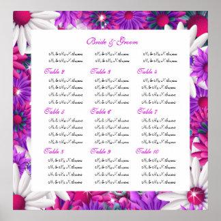 El asiento traza casar floral rosado impresiones