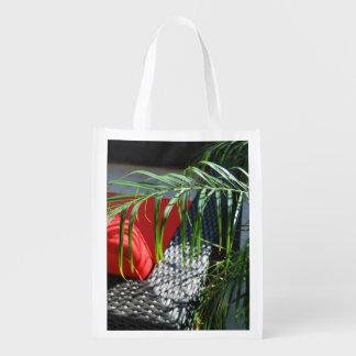 El asiento tropical del balneario, zen tranquilo bolsa para la compra