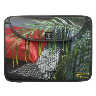 El asiento tropical del balneario, zen tranquilo funda para macbooks